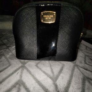 Authentic Michael Kors Black Leather Make-Up Case
